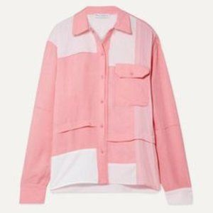 J.W. ANDERSON | Pink Crepe De Chine Shirt Patch 8